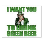 Uncle Sam Green Beer Small Poster
