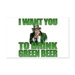 Uncle Sam Green Beer Mini Poster Print