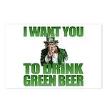 Uncle Sam Green Beer Postcards (Package of 8)