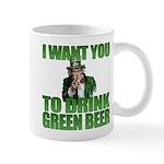 Uncle Sam Green Beer Mug