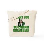 Uncle Sam Green Beer Tote Bag