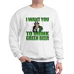 Uncle Sam Green Beer Sweatshirt