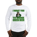 Uncle Sam Green Beer Long Sleeve T-Shirt