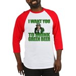 Uncle Sam Green Beer Baseball Jersey