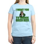 Uncle Sam Green Beer Women's Light T-Shirt