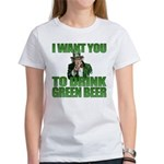Uncle Sam Green Beer Women's T-Shirt