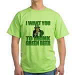 Uncle Sam Green Beer Green T-Shirt