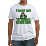 Uncle Sam Green Beer Fitted T-Shirt