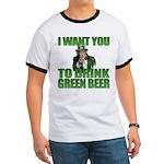Uncle Sam Green Beer Ringer T