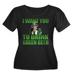 Uncle Sam Green Beer Women's Plus Size Scoop Neck
