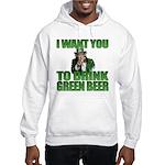 Uncle Sam Green Beer Hooded Sweatshirt