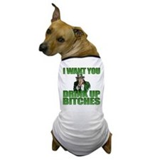 Uncle Sam Drink Up Bitches Dog T-Shirt