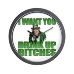 Uncle Sam Drink Up Bitches Wall Clock