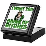 Uncle Sam Drink Up Bitches Keepsake Box