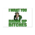 Uncle Sam Drink Up Bitches Mini Poster Print