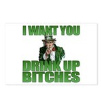 Uncle Sam Drink Up Bitches Postcards (Package of 8
