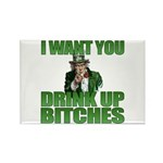 Uncle Sam Drink Up Bitches Rectangle Magnet (10 pa