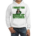 Uncle Sam Drink Up Bitches Hooded Sweatshirt