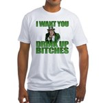 Uncle Sam Drink Up Bitches Fitted T-Shirt
