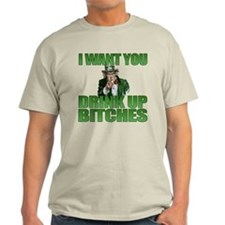 Uncle Sam Drink Up Bitches T-Shirt