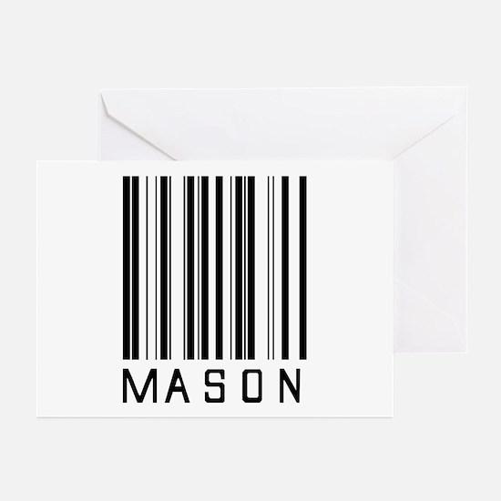 Mason Barcode Greeting Cards (Pk of 20)