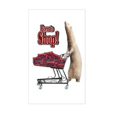 Born to Shop Rectangle Decal
