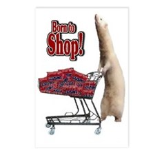 Born to Shop Postcards (Package of 8)