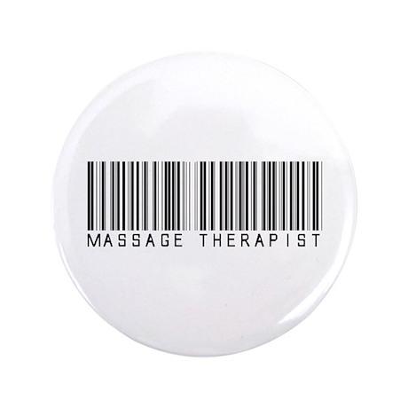 "Massage Therapist Barcode 3.5"" Button (100 pack)"