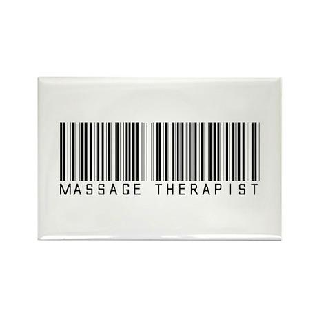 Massage Therapist Barcode Rectangle Magnet (100 pa