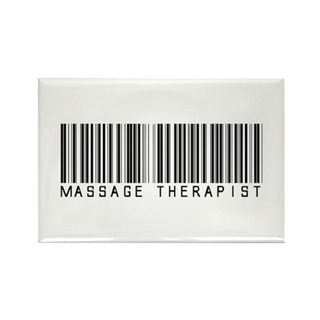 Massage Therapist Barcode Rectangle Magnet