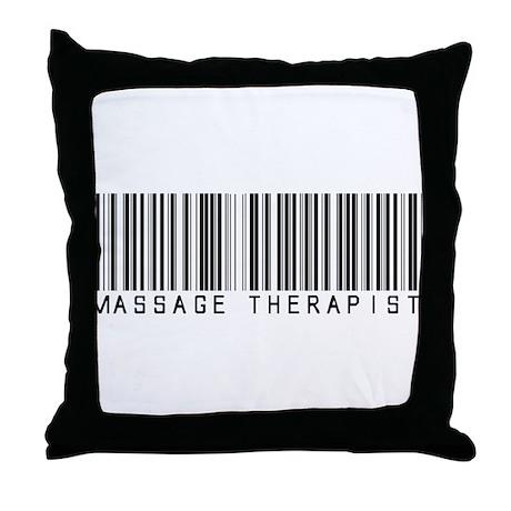 Massage Therapist Barcode Throw Pillow
