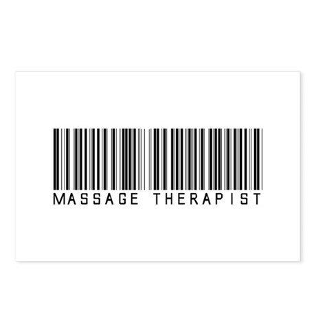 Massage Therapist Barcode Postcards (Package of 8)