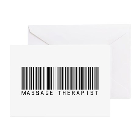 Massage Therapist Barcode Greeting Cards (Pk of 10