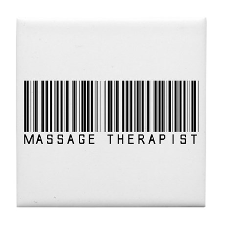 Massage Therapist Barcode Tile Coaster