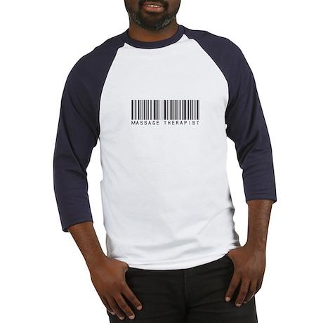 Massage Therapist Barcode Baseball Jersey