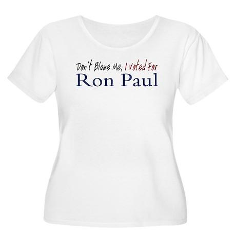 Don't Blame Me Women's Plus Size Scoop Neck T-Shir