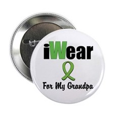 """I Wear Lime Grandpa 2.25"""" Button (10 pack)"""