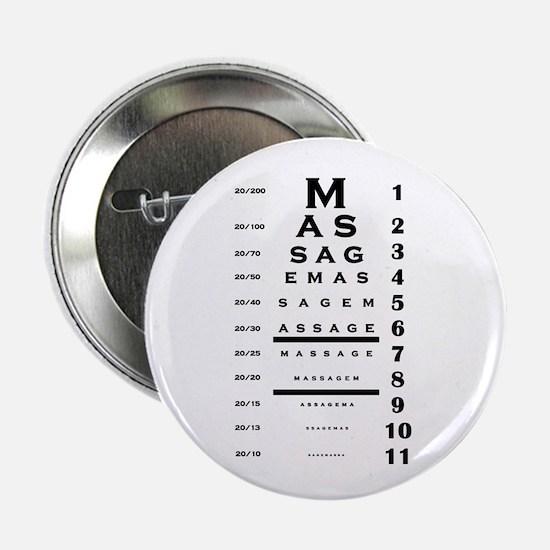 "Massage Eye Chart 2.25"" Button"