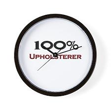 100 Percent Upholsterer Wall Clock