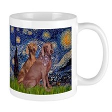 Starry Night & Weimaraner Mug