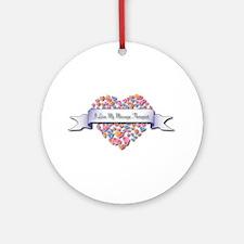 Love My Massage Therapist Ornament (Round)