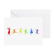 Dancing Women Greeting Cards (Pk of 10)