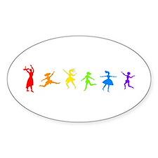 Dancing Women Oval Decal