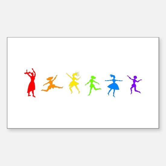 Dancing Women Rectangle Decal