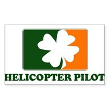 Irish HELICOPTER PILOT Rectangle Decal