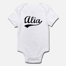 Vintage Alia (Black) Infant Bodysuit