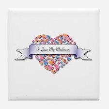 Love My Mailman Tile Coaster