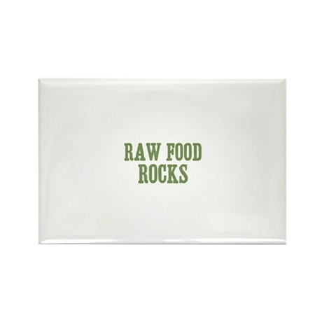Raw Food Rocks Rectangle Magnet (100 pack)