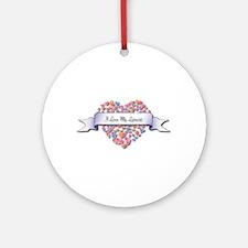 Love My Lyricist Ornament (Round)