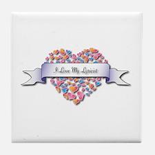 Love My Lyricist Tile Coaster